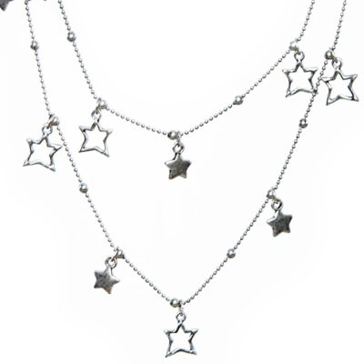 Olia Jewellery Katy Stars Necklace Silver