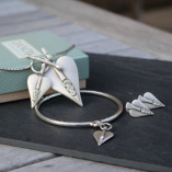 Danon Signature Silver Heart With Crystals Collection