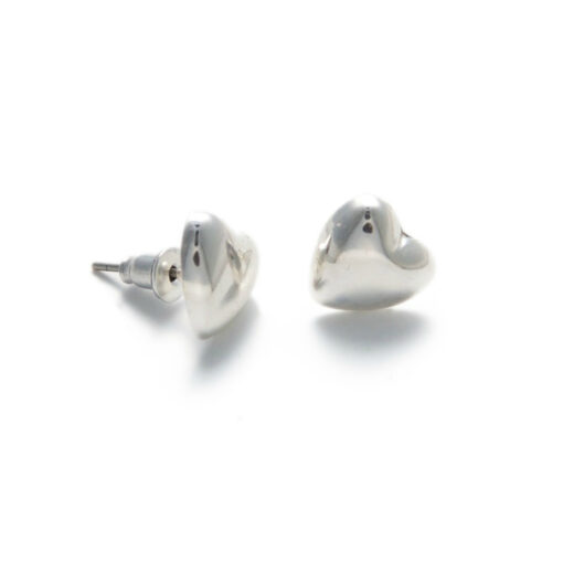 Gwen Silver Heart Stud Earrings