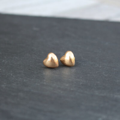 Olia Gwen Gold Stud Heart Earrings