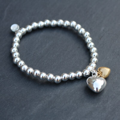 Olia Jewellery Franny Hearts Silver Bracelet from Birdhouse Jewellery
