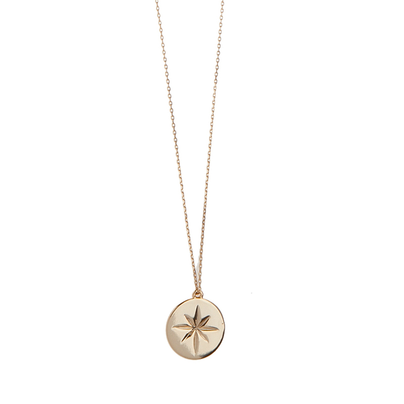 Orelia gold long star disc pendant necklace aloadofball Image collections
