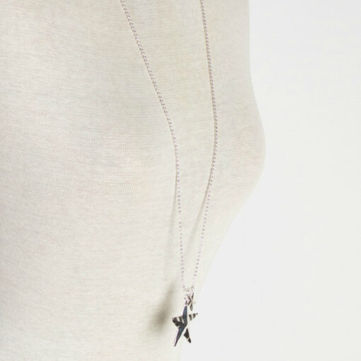 Paloma Long Silver Star Necklace by Olia