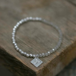 Tutti & Co Grey Glass Bracelet available at Birdhouse Jewellery