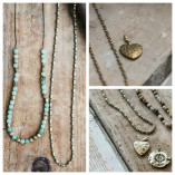 Tutti & Co Long Gold Beaded Tube Chain Necklace available at Birdhouse Jewellery