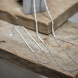 Tutti & Co Long Necklace with Grey Beads available at Birdhouse Jewellery