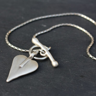 Danon T-Bar Silver Heart Short Necklace Image Copyright Birdhouse Jewellery