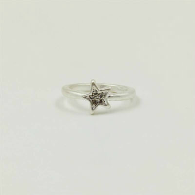 Junction 83 Silver Twinkling Star Ring