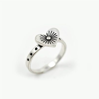 Junction 83 Starburst Heart Ring available at Birdhouse Jewellery