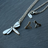 Danon Jewellery Dragonfly Necklace and Earrings