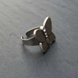 Danon Butterfly Ring with Swarovski Crystals available at Birdhouse Jewellery