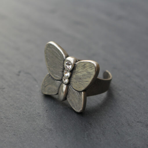 Danon Butterfly Ring with Swarovski Crystals