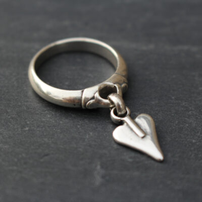 Danon Jewellery Silver Signature Heart Ring available at Birdhouse Jewellery