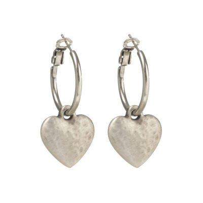 Danon-hammered-heart-hoop-earrings-at-Birdhouse-Jewellery
