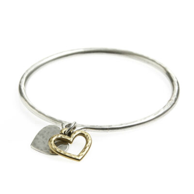 Danon-heart-and-outline-bangle-at-Birdhouse-Jewellery