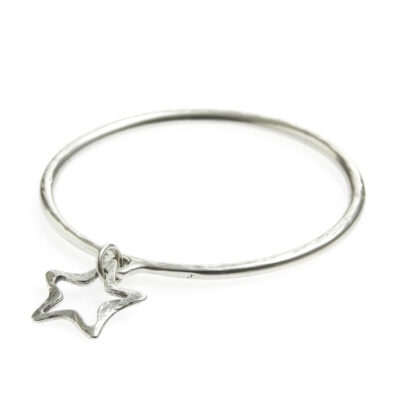 Danon-silver-star-outline-bangle-at-Birdhouse-Jewellery