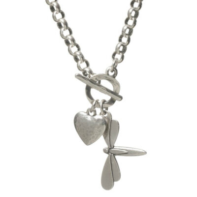 Danon-t-bar-necklace-with-dragonfly-and-heart-charms-at-Birdhouse-Jewellery