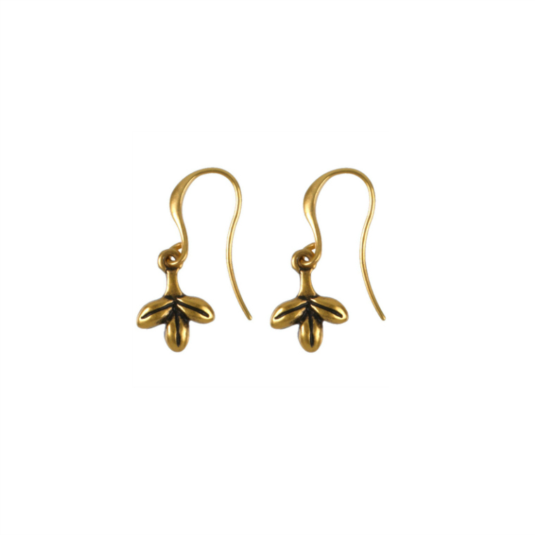 Hultquist Jewellery Gold Leaves Hook Earrings