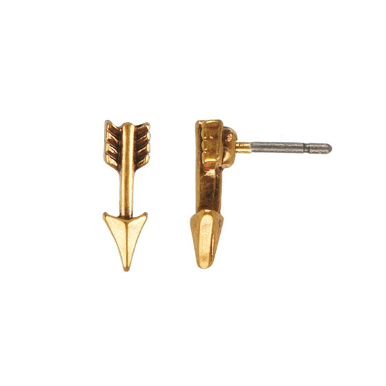 Hultquist Jewellery Hearts and Arrows Gold Arrow Stud Earrings