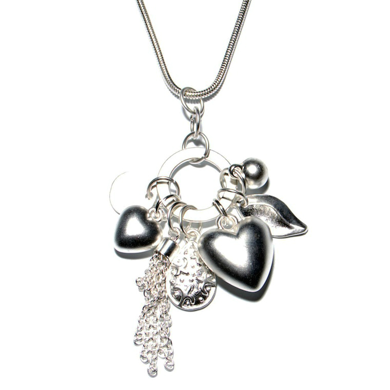 Olia Jewellery Many Charms Necklace Silver