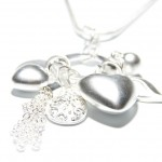 Olia Many Charms Necklace Silver