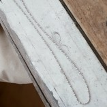 Tutti & Co Long Beaded Tube Chain Necklace Silver