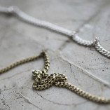 Tutti & Co Long Simple Curb Chain Necklace – Silver & Gold 2