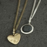 Tutti & Co Long Simple Curb Chain Necklace – Silver & Gold with Charms 2