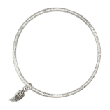 Danon Jewellery Silver Bangle with Tiny Delicate silver mini micro angel wing available at Birdhouse Jewellery www.birdhousejewellery.com