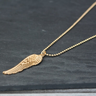 Lola Gold Angel Wing Short Necklace