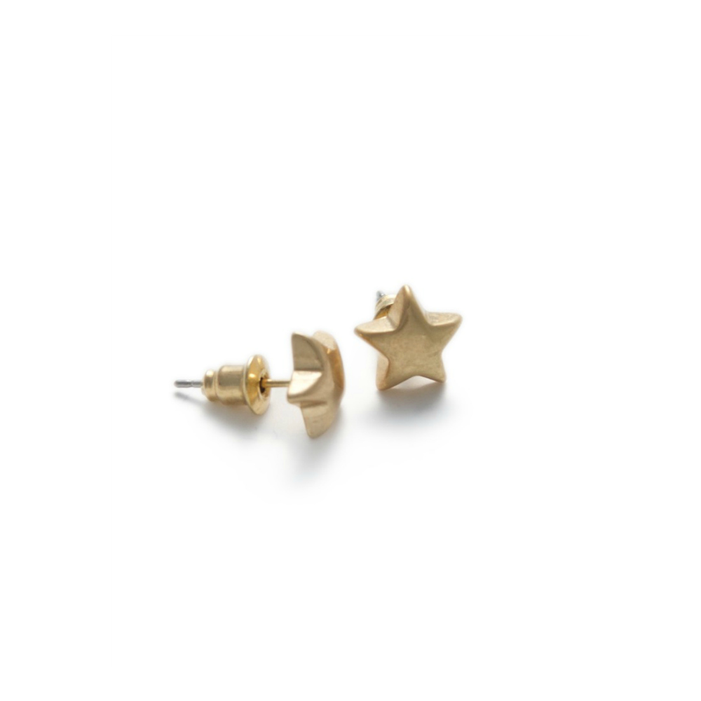Olia Gwen Gold Star Stud Earrings