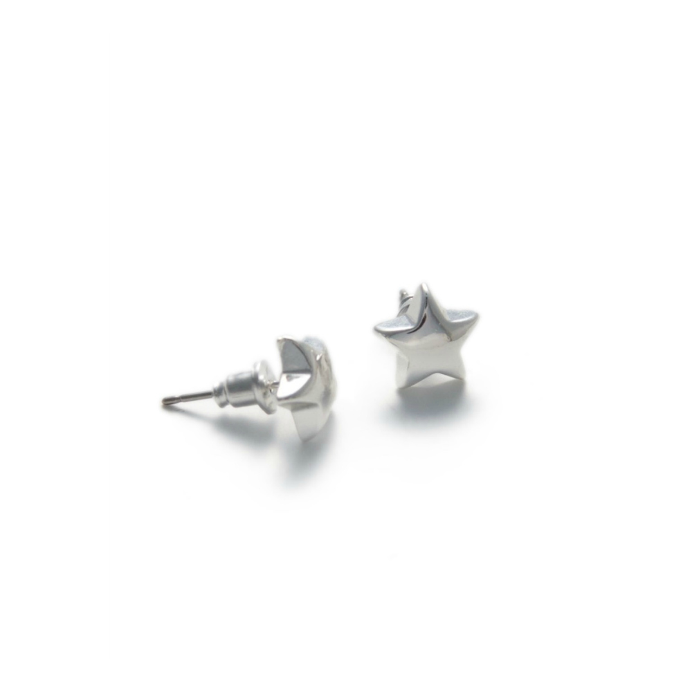 Olia Gwen Silver Star Stud Earrings from Birdhouse Jewellery