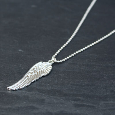 Olia Lola Silver Angel Wing Short Necklace