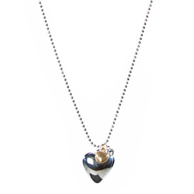 Olia Paloma Long Heart Necklace