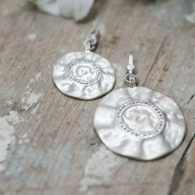 Tutti & Co Silver Crystal Disc Charm Pendants available at Birdhouse Jewellery
