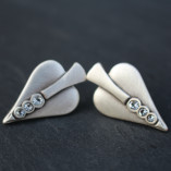 Danon Jewellery Silver Heart with crystals stud earrings image copyright of Birdhouse Jewellery