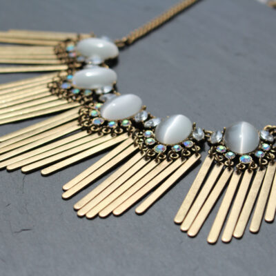 Rock & Rye Angel Face Statement Necklace