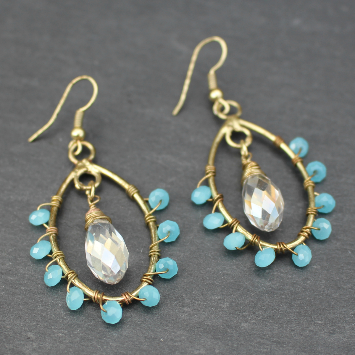 Hot Tomato Touch of Boho Statement Earrings