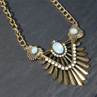 Rock & Rye Aviation Vintage Statement Necklace