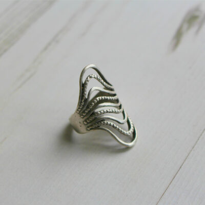 Treaty Jewellery Ria Wave Silver Ring available at Birdhouse Jewellery