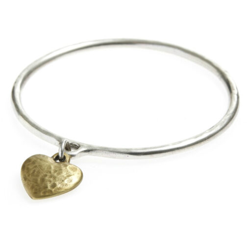 Danon-gold-hammered-heart-bangle-at-Birdhouse-Jewellery