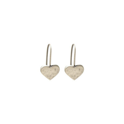 Danon-hammered-heart-drop-earrings-at-Birdhouse-Jewellery
