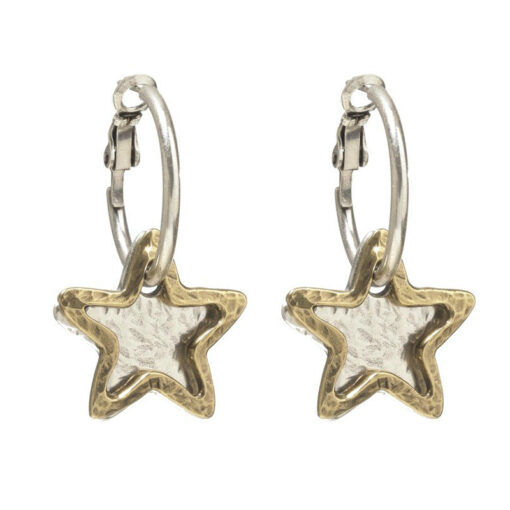 Danon-star-and-star-outline-hoop-earrings-at-Birdhouse-Jewellery