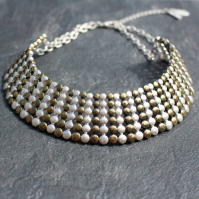Nouv-elle Aurora Gold and Silver Statement Necklace