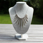 Nouv-Elle Lovell Gold and Silver Statement Fan Necklace