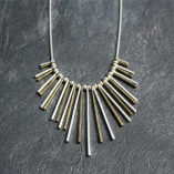 Nouv-Elle Lovell Gold and Silver Statement Fan Necklace l