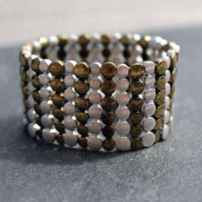 Nouv-Elle Gold and Silver Cuff Bracelet