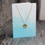 Orelia Moon Disc Pendant Necklace Gift Card